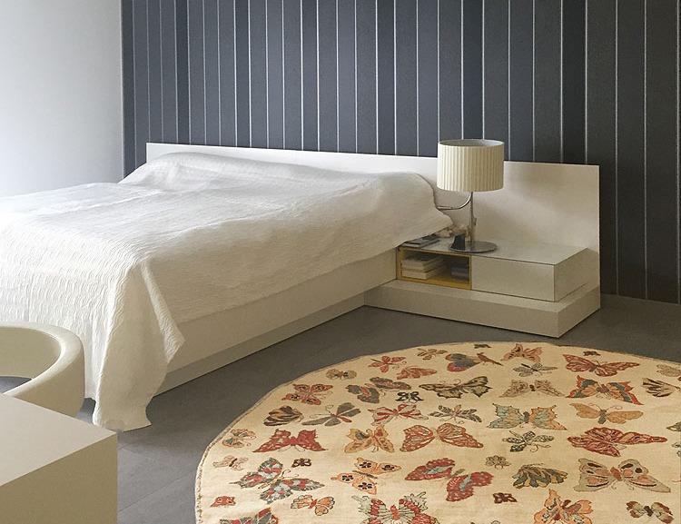 Schlafzimmer-Teppich-rund