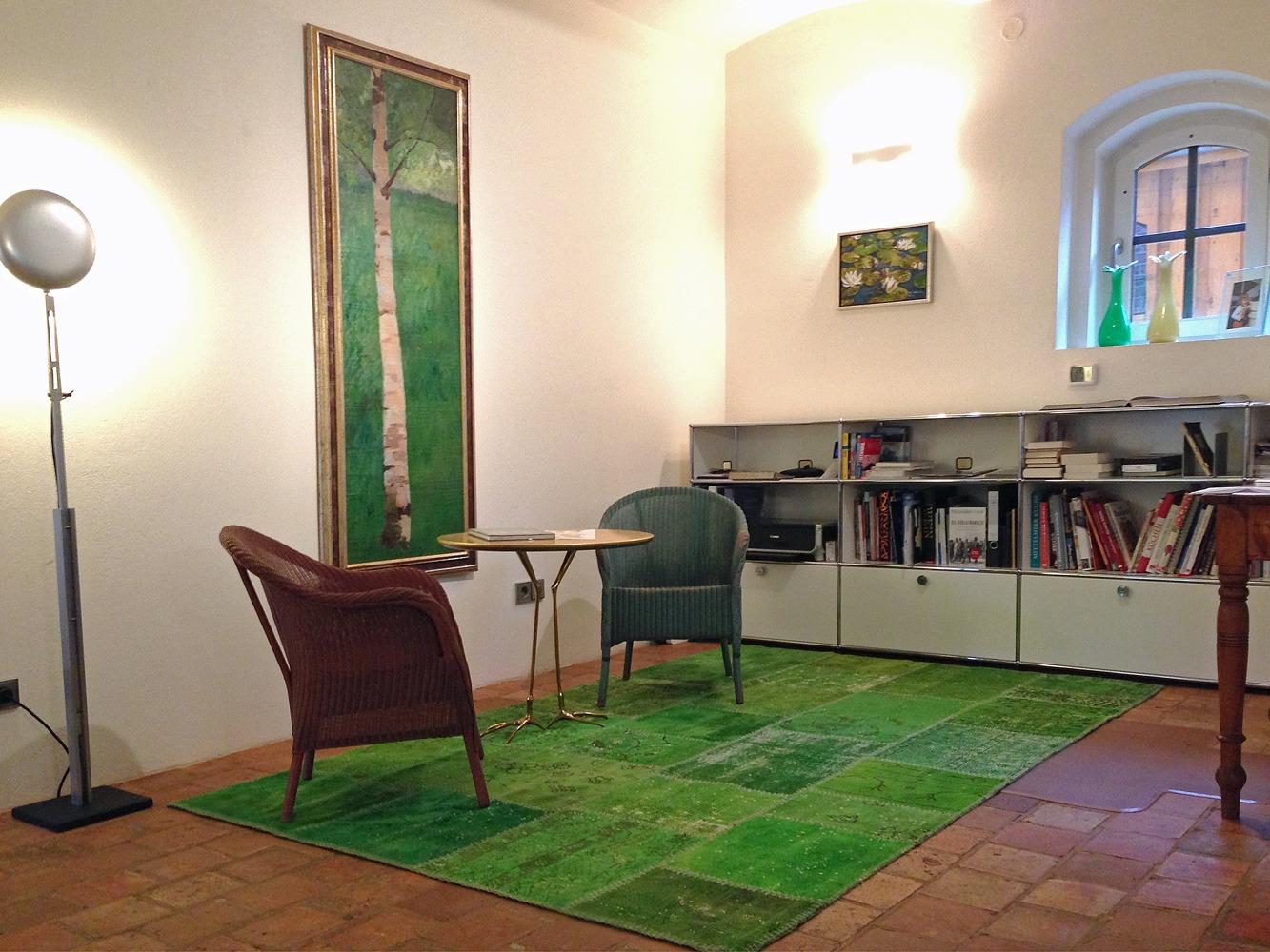 Patchworkteppich-grun-wohnen