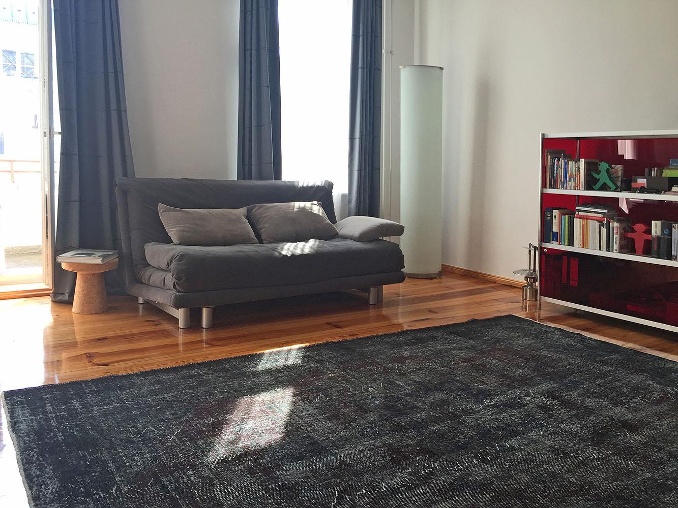 Vintage-Teppich-schwarz