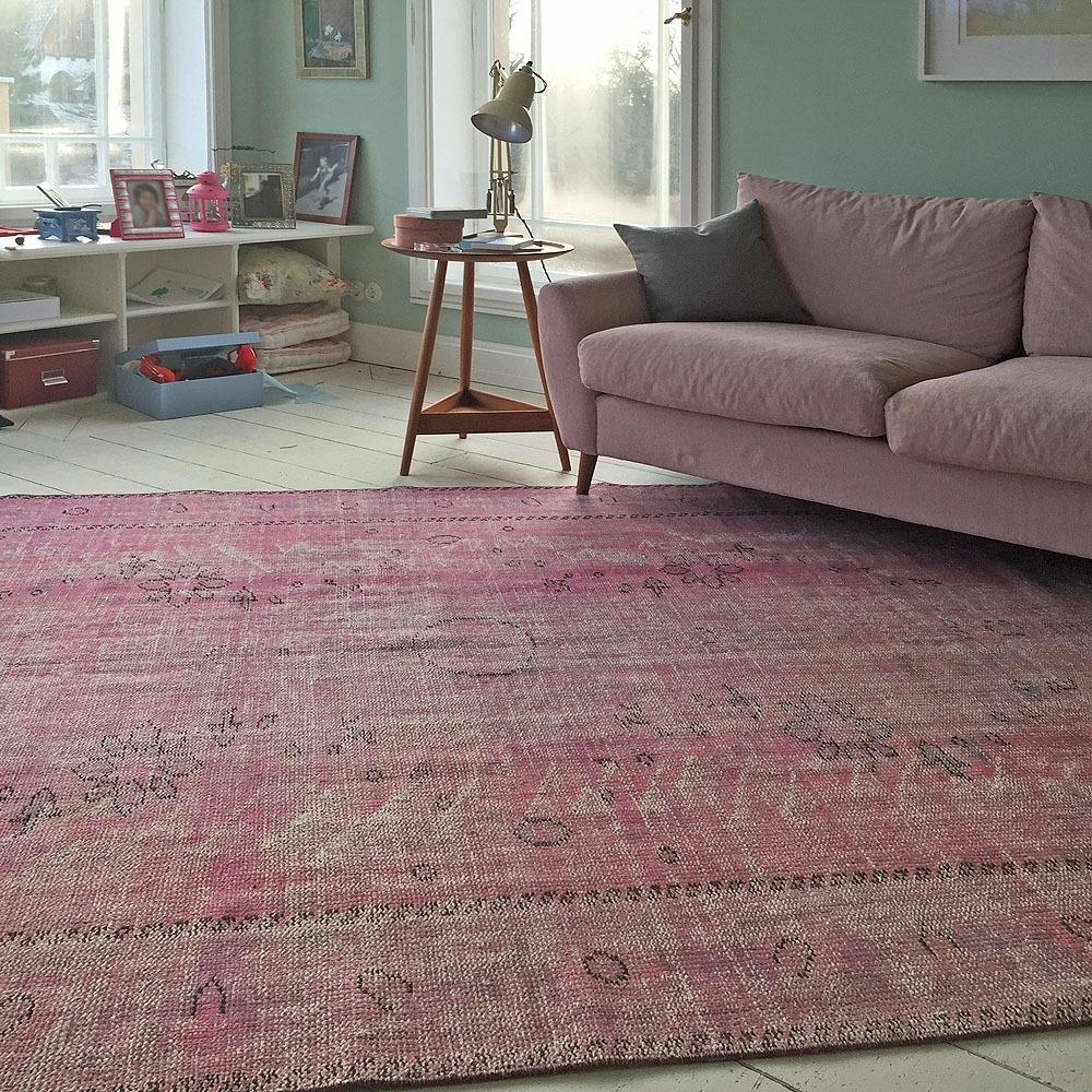 Vintage-rosa-Kinderzimmer